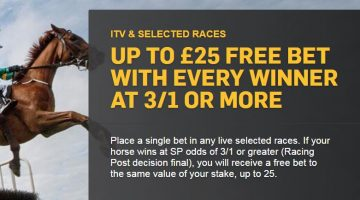 Betfair 3/1 Horse Racing Offer