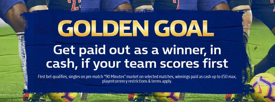 William Hill Golden Goal Promotion