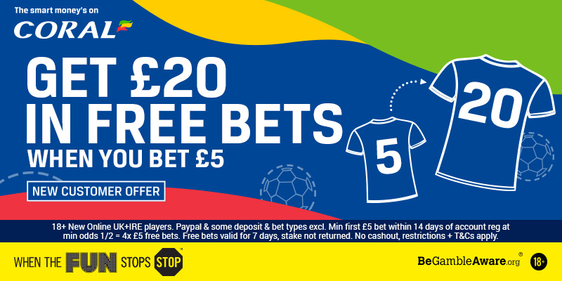 Coral's free bets