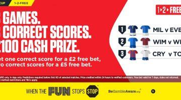 Ladbrokes – Predict Three Correct Scores and Win £100!