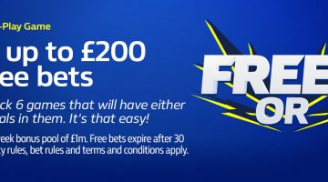 William Hill – Enter for Free, Pick 6 Games and Win Up to £200